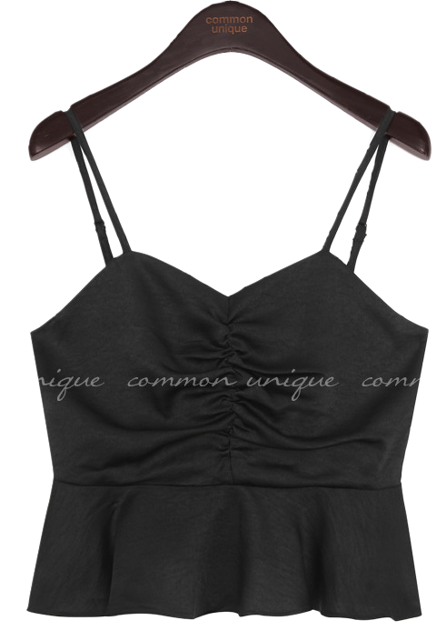 Shirred front Bustier Top