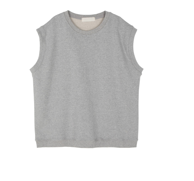 Falling cotton crew neck vest