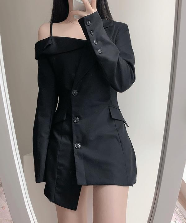 Carne Jacket Shoulder Dress