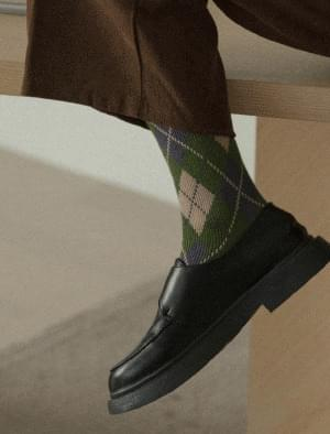 Vintage argyle pattern socks