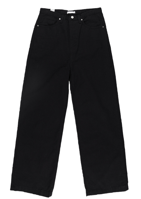 Colored cotton wide trousers