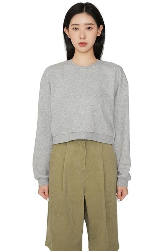 Monday cropped crew neck sweatshirt 長袖上衣