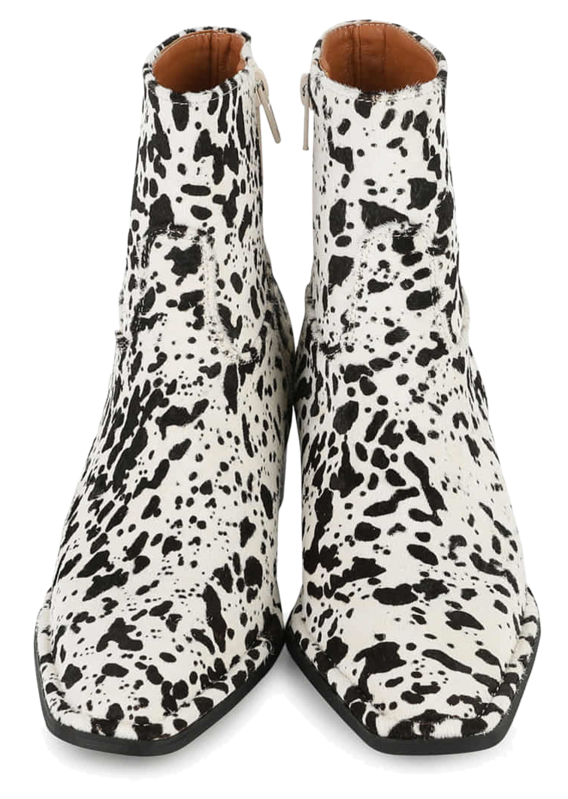 Real Calf middle-heel ankle boots