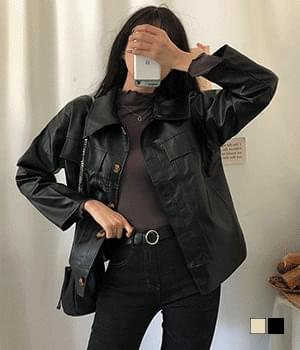 Leather shirt and jacket