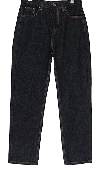 Ali black straight trousers