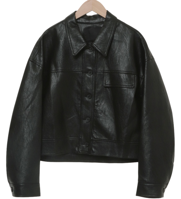 Course Leather Crop Jacket