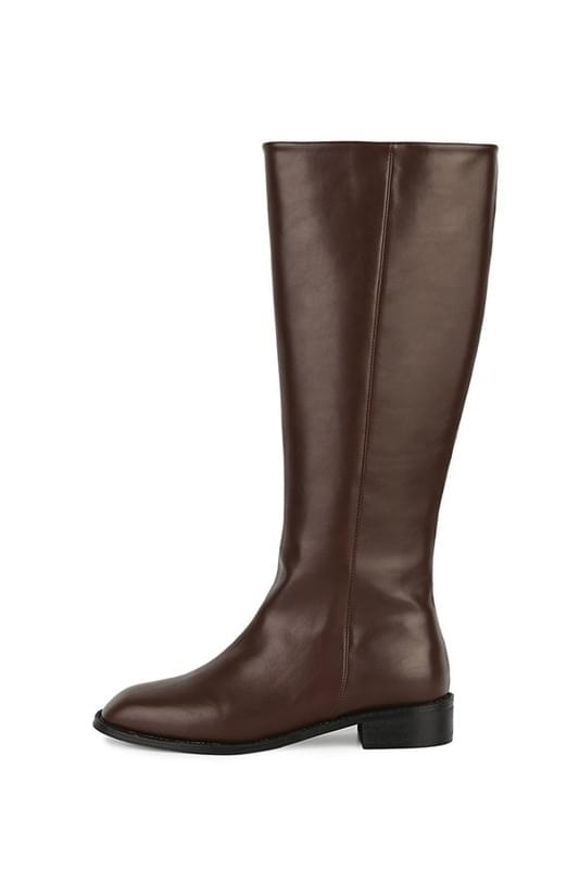 Berlin middle heel long boots