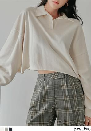 WINSOME BUTTON COLLAR CROP MTM