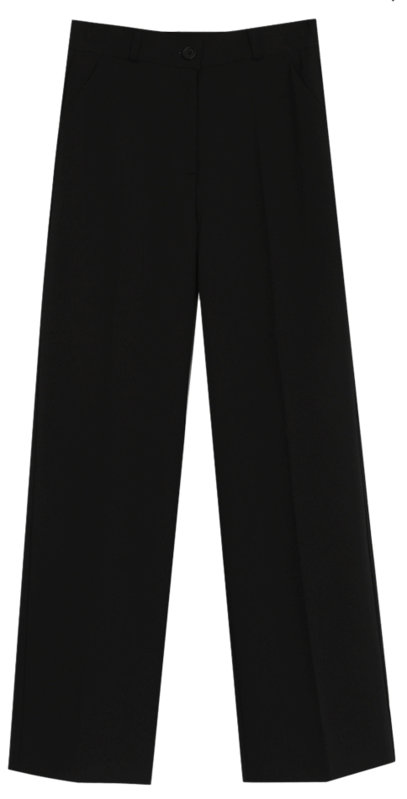 Moto Wide Long Slacks (2color)