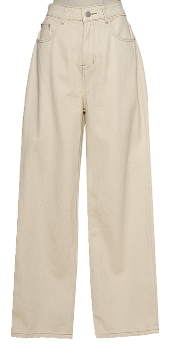 Basic Cotton Wide Pants