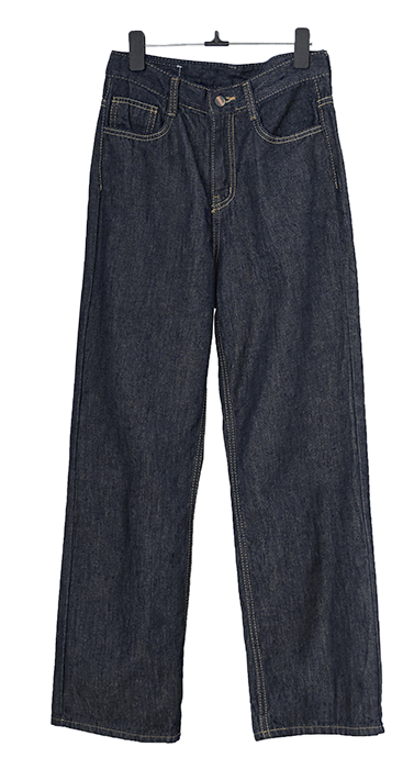 Dark Blue straight denim pants