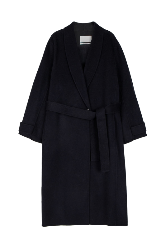 Urbane Shawl Collar Handmade Long Coat