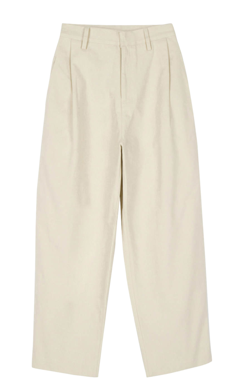 Dand wide cotton trousers