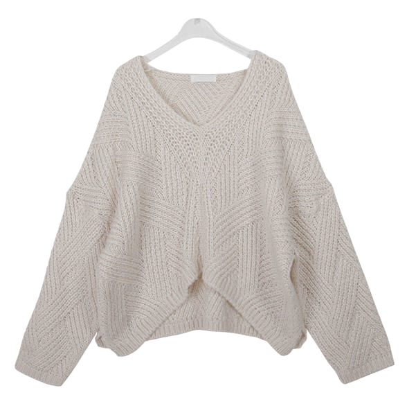 Loose Fit Forene V-Neck Knit