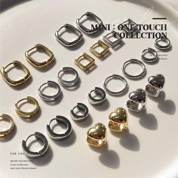 One Touch Mini Ring Earrings Collection