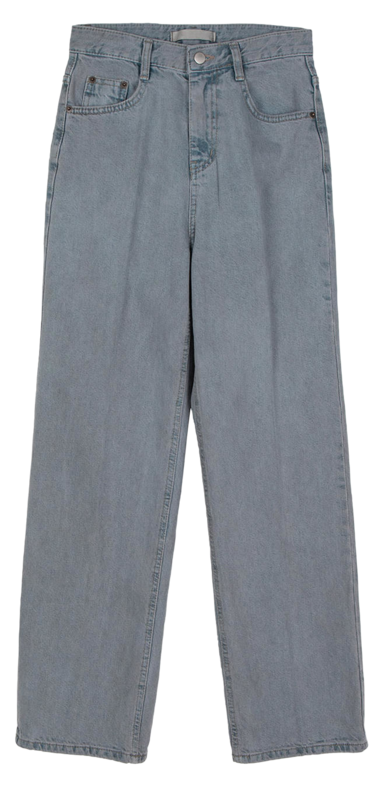 Gray base straight jeans
