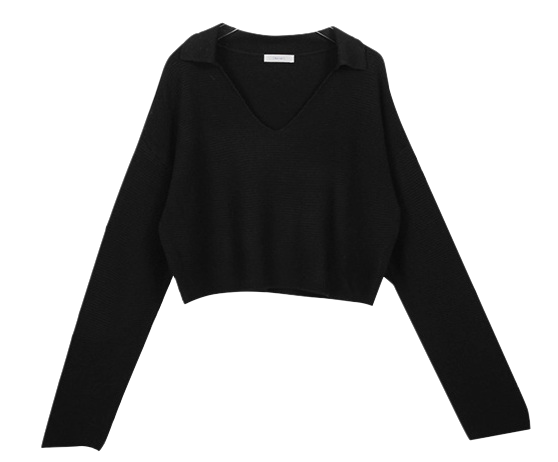 Color Selling Cropped Knit