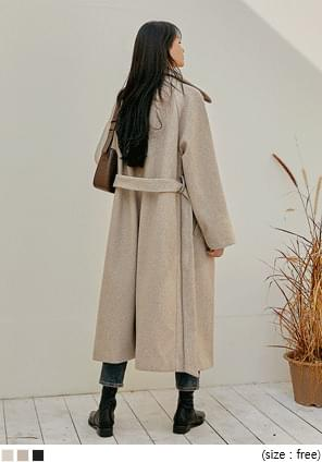 ROUTE STRAP RAGLAN LONG COAT