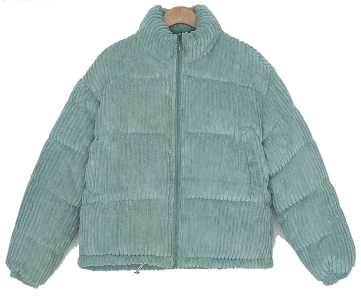 Lotus High Neck Corduroy Padded Jumper