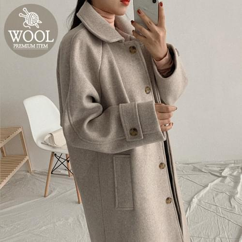 Code single wool coat