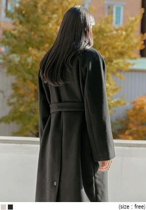 REAN WOOL STRAP HIDDEN LONG COAT