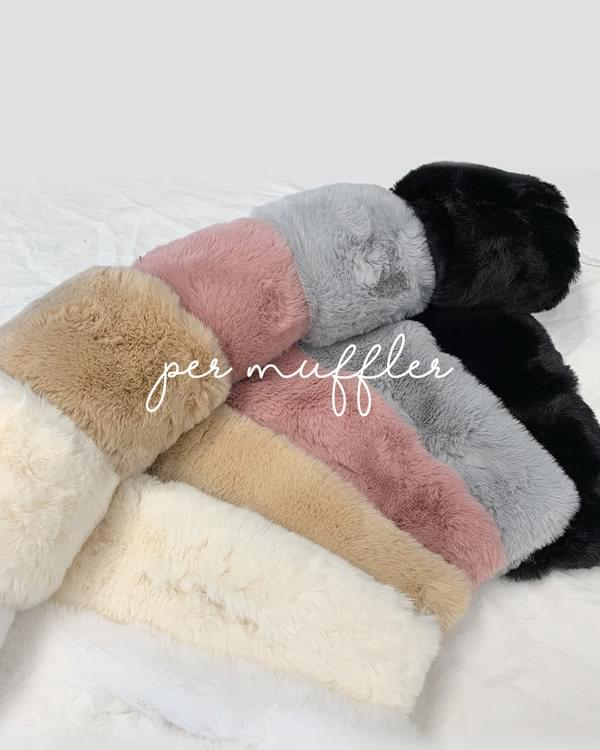 Living Soft Mink Rabbit Fur Muffler