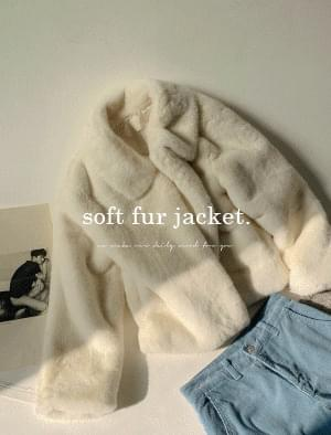Milan soft texture fur jacket