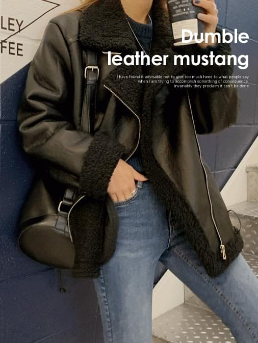 Four End Leather Dumble Mustang Jacket