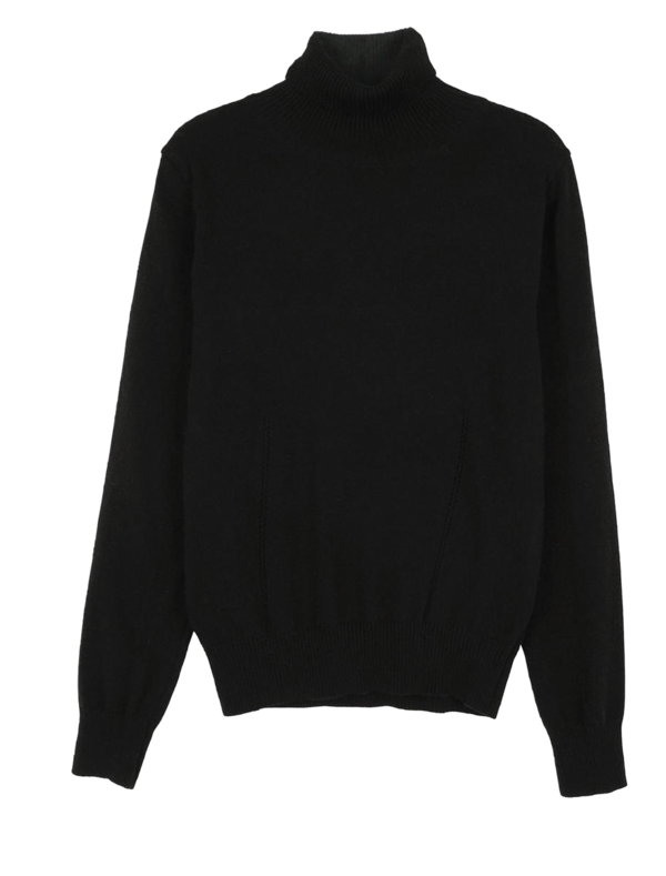 Modine punching turtleneck knit