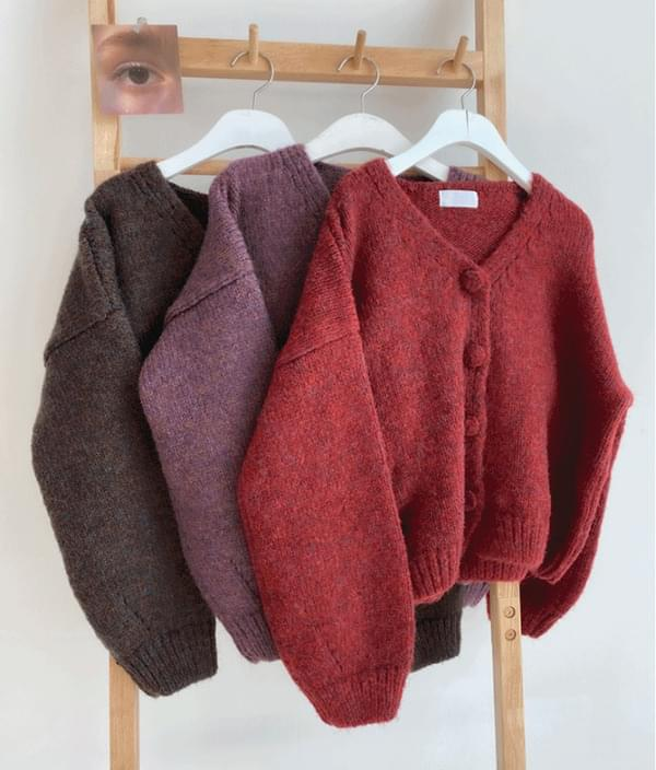 QUIETLABBalloon Sleeve Woolen Cardigan