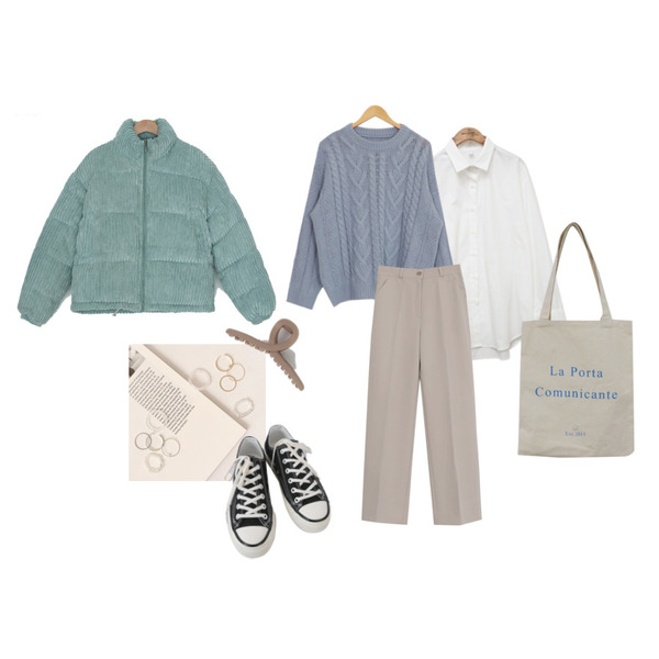 common unique BASIC WIDE CUFFS SHIRTS,BITDA 라포르타에코 bag,AFTERMONDAY basic casual color sneakers (10colors)등을 매치한 코디