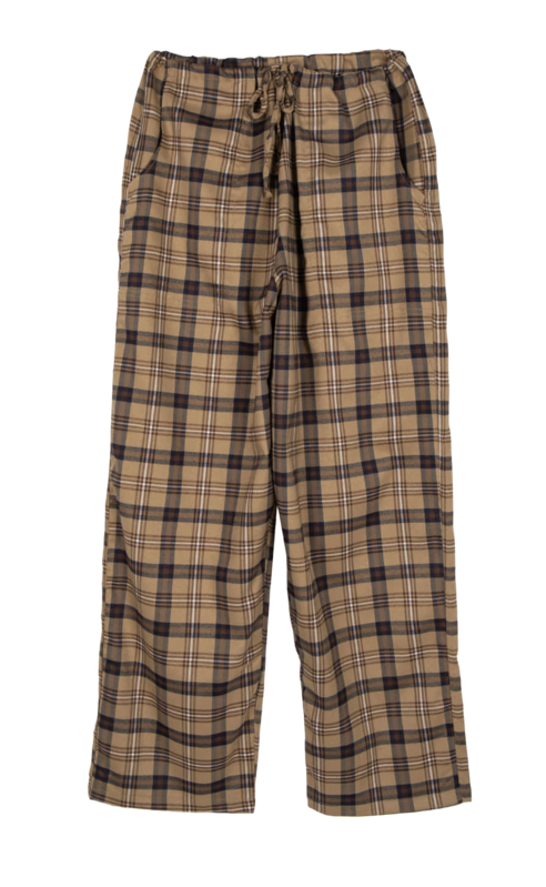 Canto unisex string-check pants