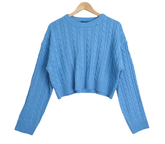 Racquet Cropped Twisted Knitwear