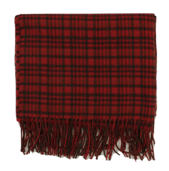 London Check Fringe Long Scarf