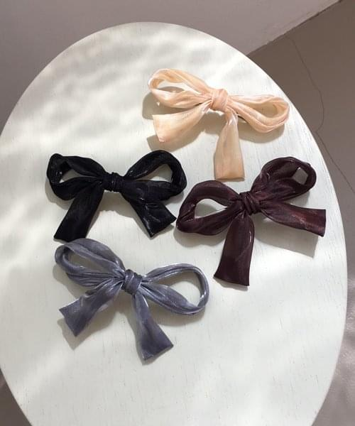 ribbon hair pin 配飾