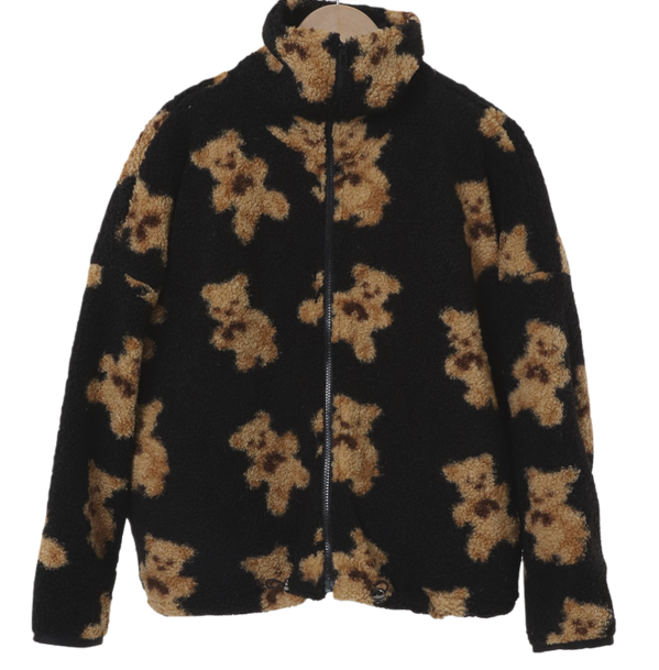 Teddy Bear High Neck Dumble Quilt Jacket