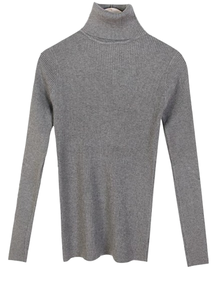 From Ribbed Turtleneck Knitwear