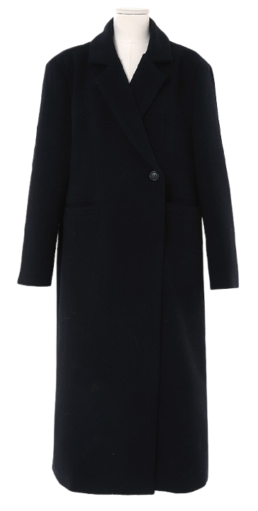 Minimal single wool coat