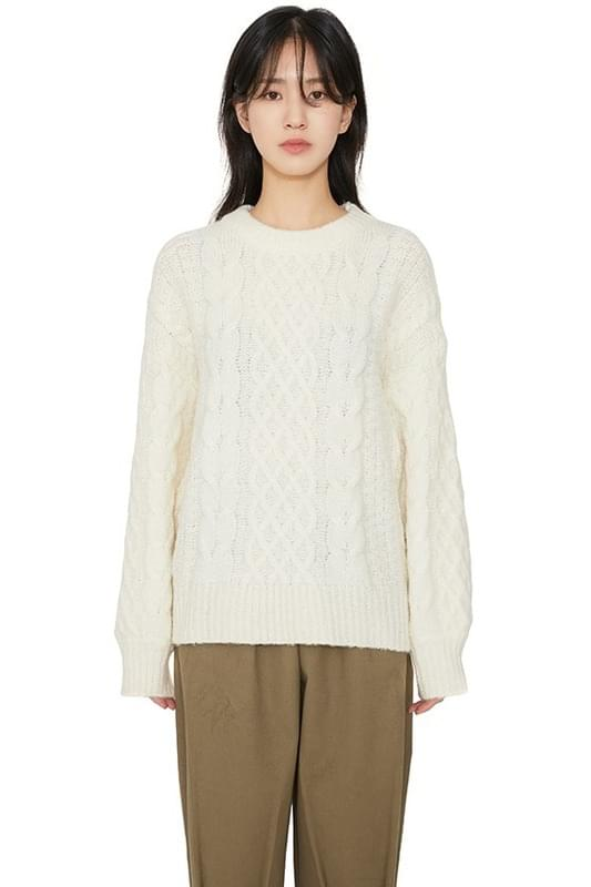 Purdy cable crew neck knit 針織衫