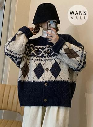 cd0597 Snowy Round Cardigan