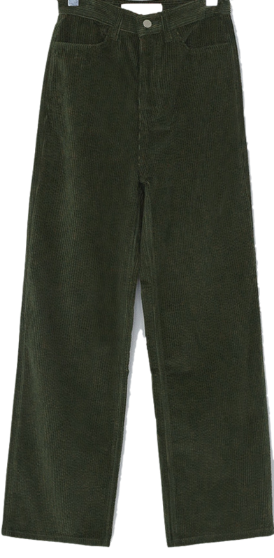 Story wide corduroy pants