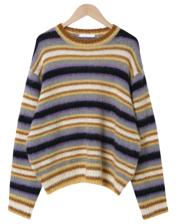 Candy Stripe Wool Round Knit