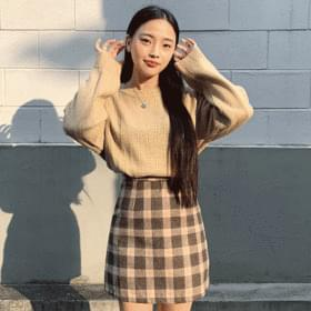 Tartan check mini skirt 裙子
