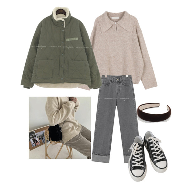 AFTERMONDAY basic casual color sneakers (10colors),common unique DENT ROLL UP DENIM PANTS,From Beginning 심플벨벳 헤어머리띠 (2color)등을 매치한 코디
