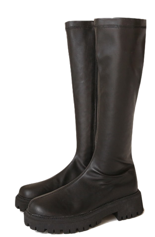 Pleather Long Boots
