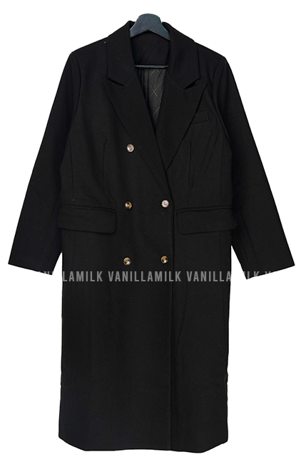 Nest quilted double long coat
