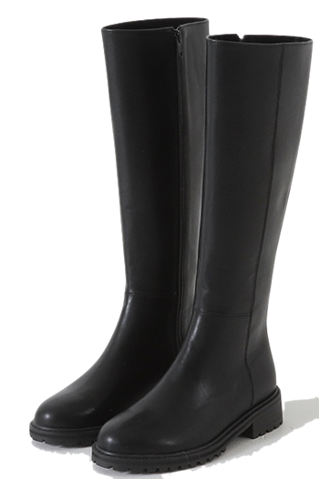 Solid Oversole Long Boots
