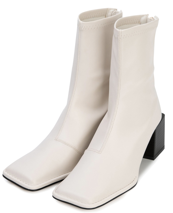 Stopper middle heel ankle boots