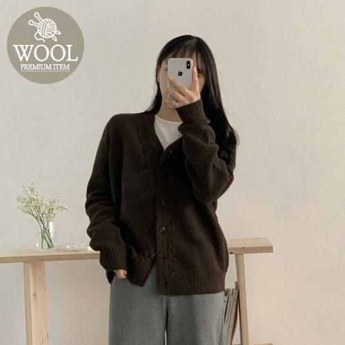 Onic Cable Wool Cardigan