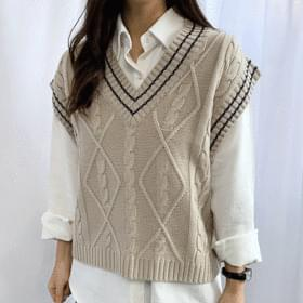 Sage Color Knit Vest